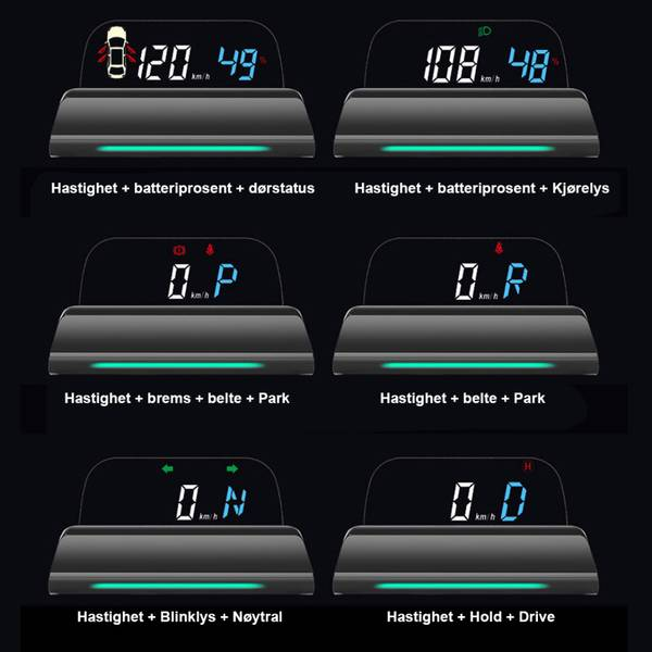 Head Up Display D500SX - Tesla Model S & X 2016->